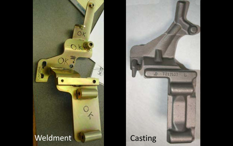 04 Alternator AC Bracket 2012 Casting Year